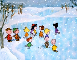 charlie brown ice skating