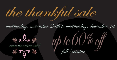 thankful sale