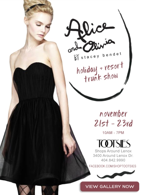 Alice Olivia trunk show